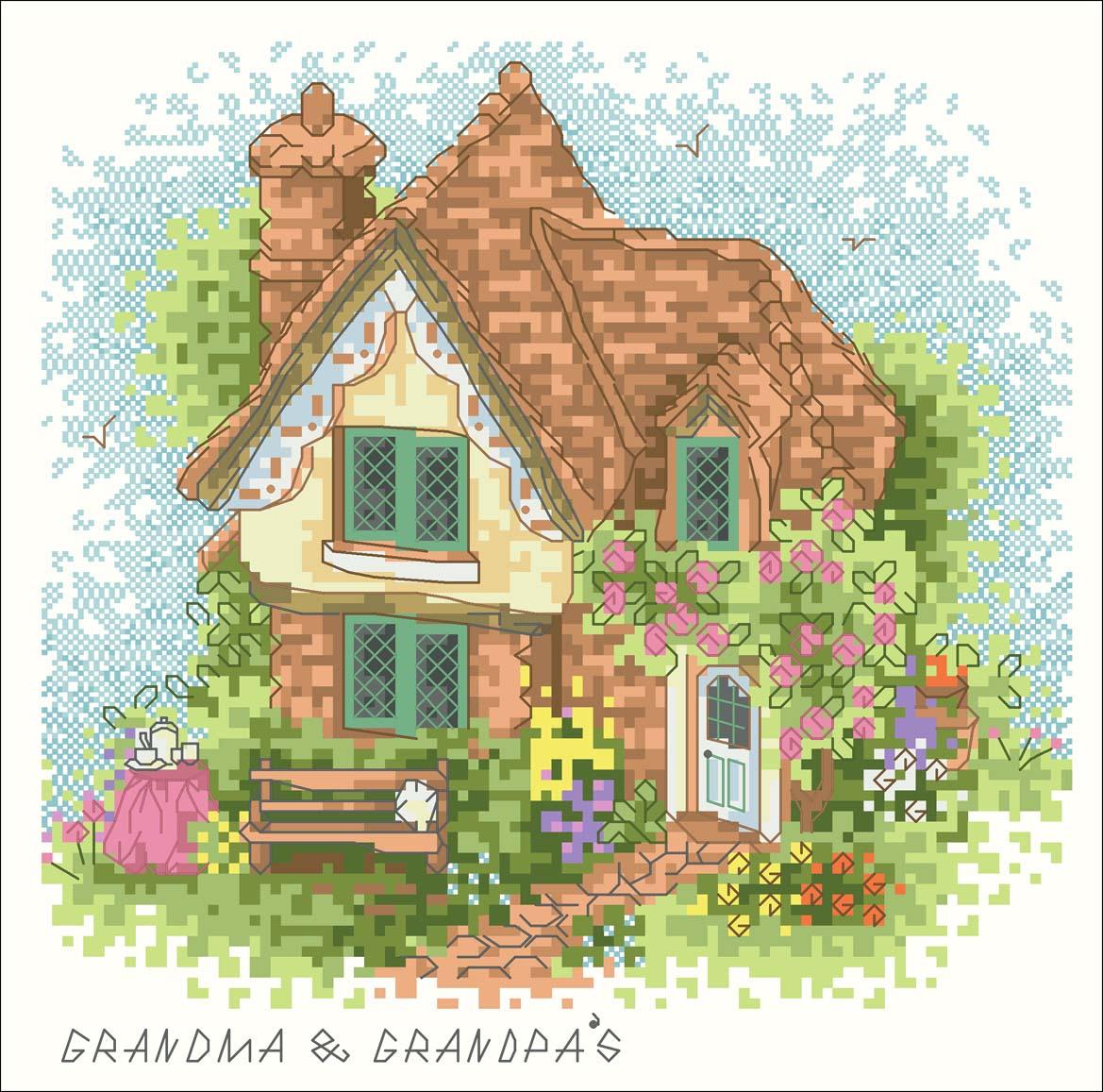 Вышивка крестом схемы домов 91