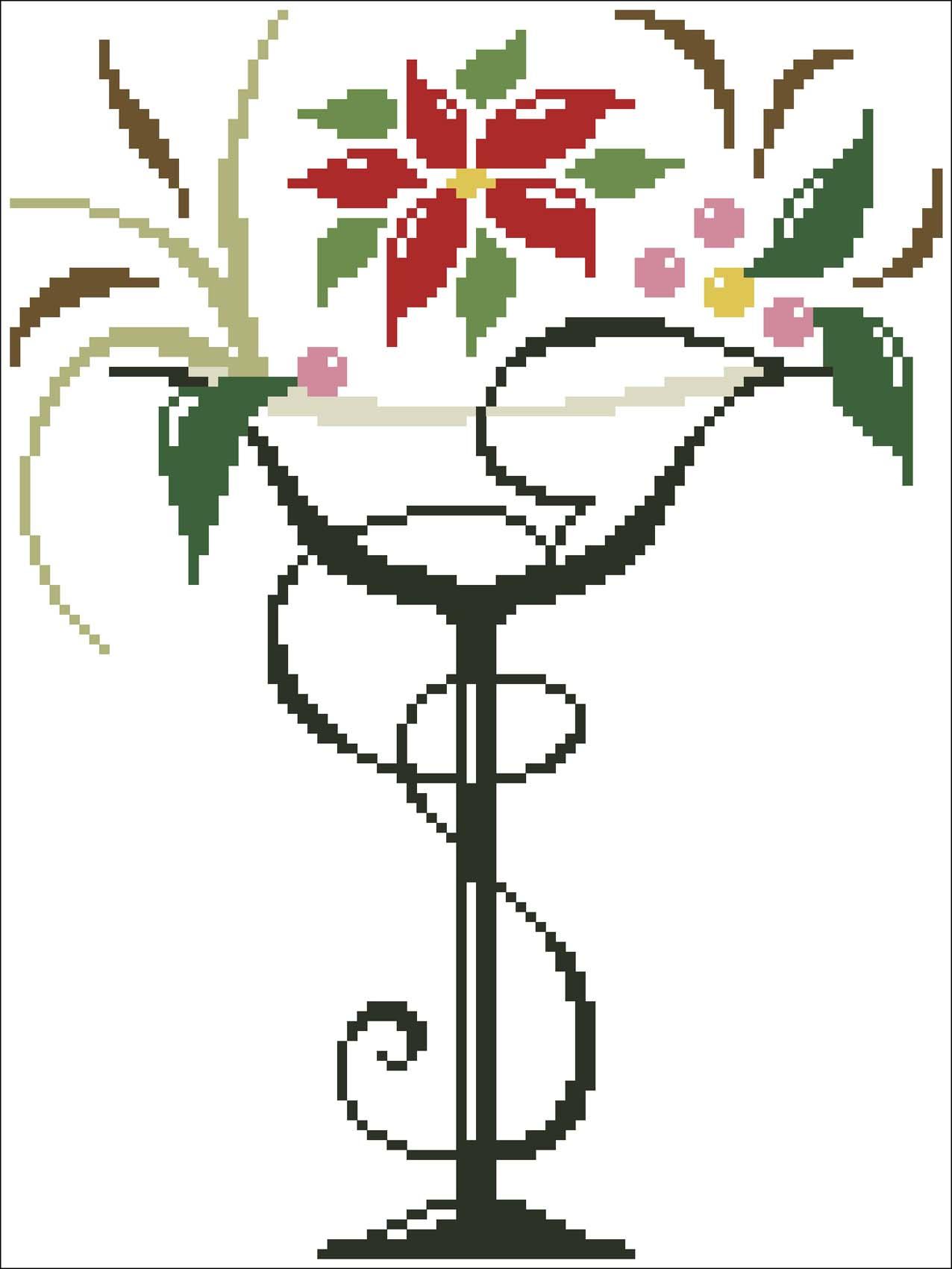 Схемы для вышивки крестом бокалы 78